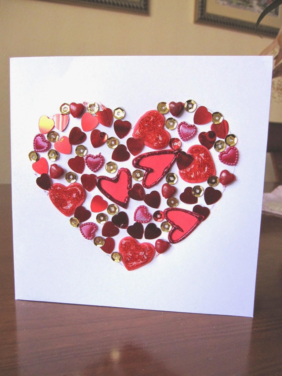 tarjeta CORAZÓN de San Valentín scrapbooking