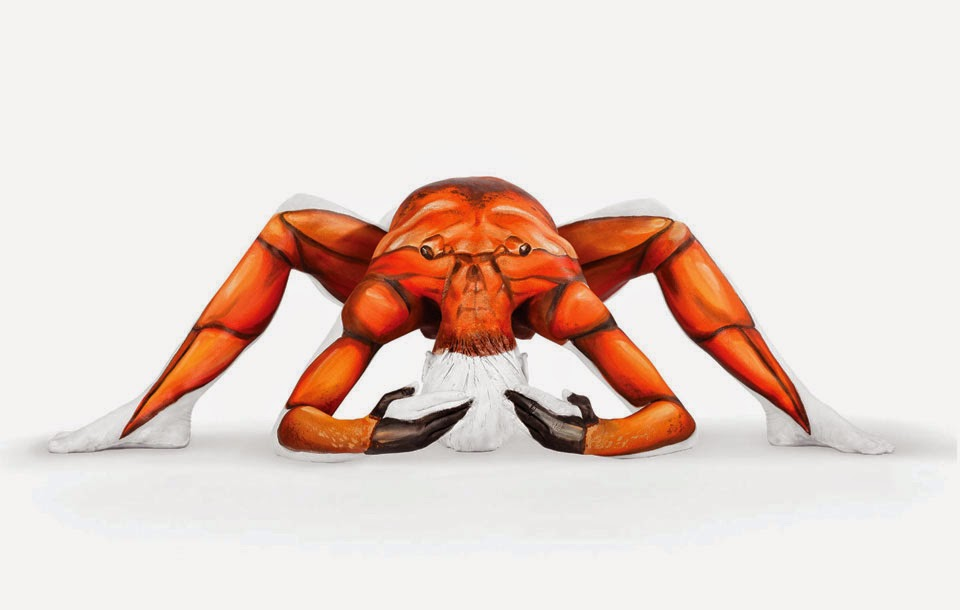 03-Crab-Emma-Fay-You-as-a-Canvas-in-Body-Painting-www-designstack-co