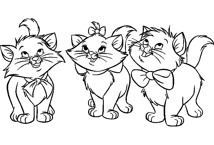 AristoCats Coloring Pictures Source Kids