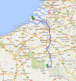 Road trip map to Zeeland