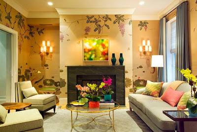 Gambar Ruang Tamu Minimalis Wallpaper Dinding Klasik