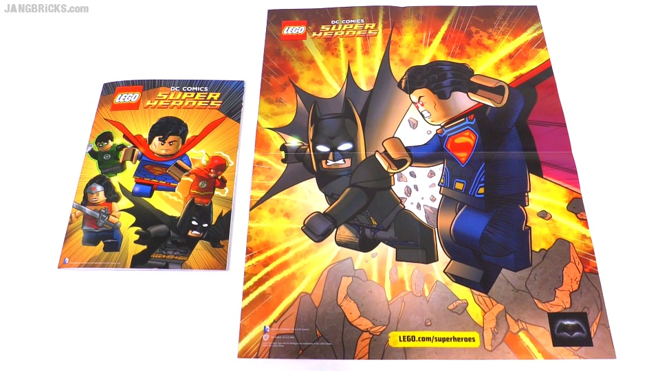 LEGO large DC Comics book & double-sided poster surprise!