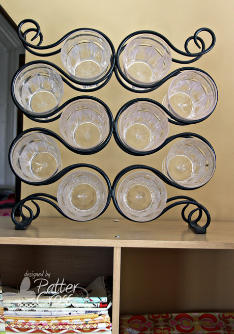 Triple the scraps organizational friday wine rack storage for Other uses for wine racks in kitchen