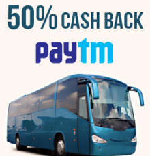 Paytm 50% Cashback Coupon on Bus Ticket Booking (Trideal offer)