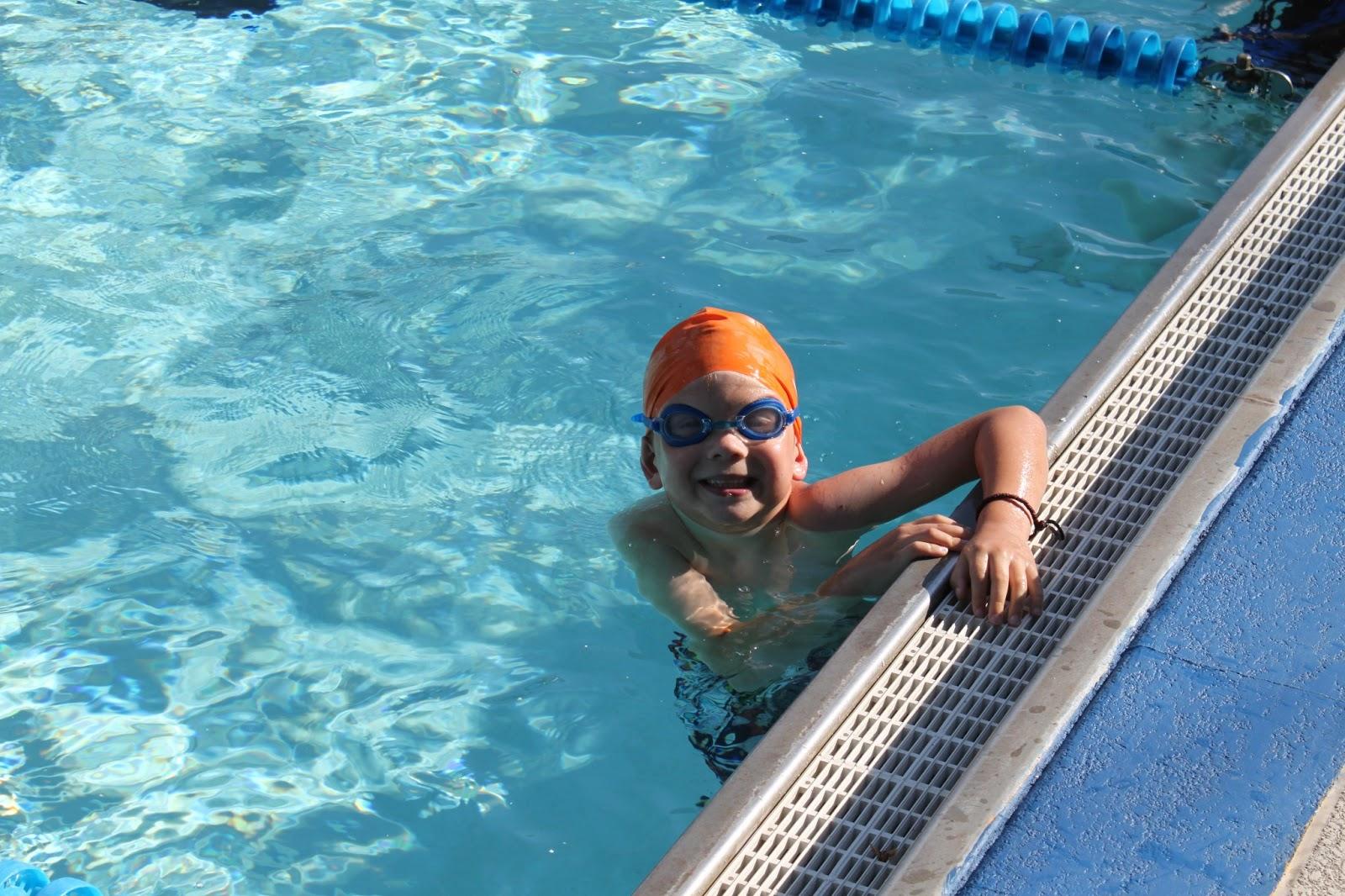 Little Things Caleb's First Swim Meet