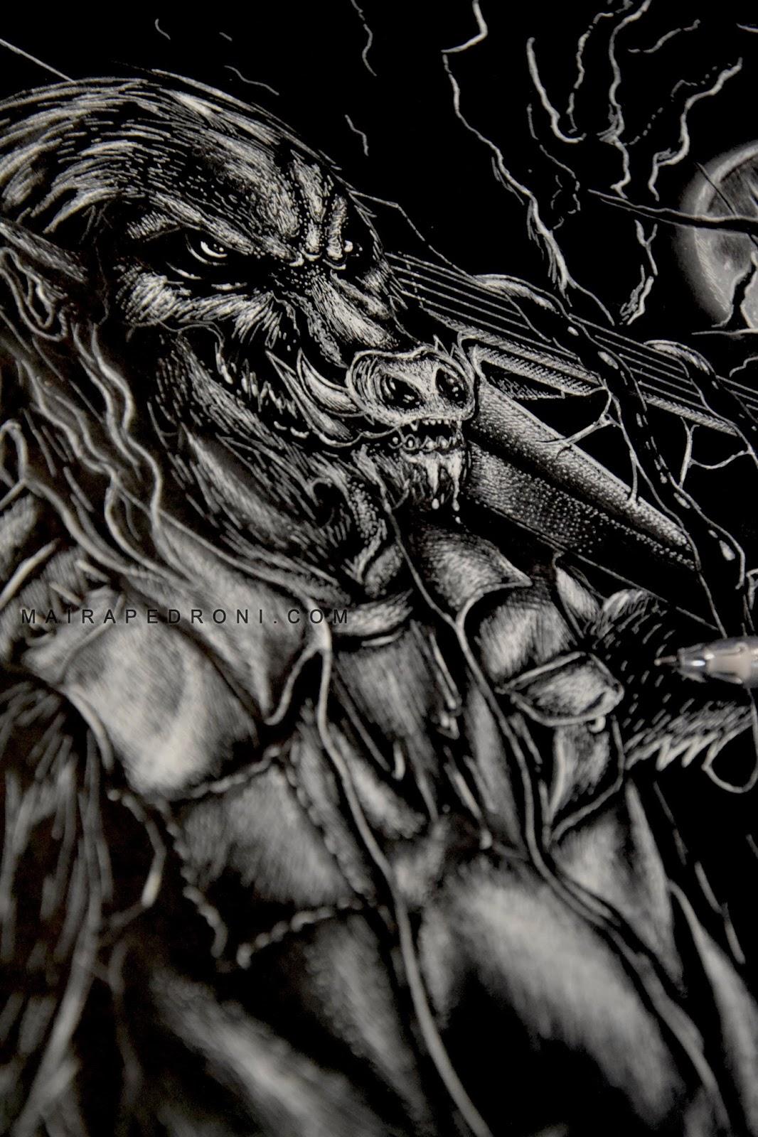 Design t shirt artwork - Progress Of A Commissioned Artwork T Shirt Design