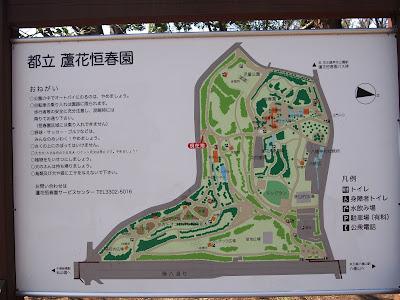 蘆花恒春園 案内図