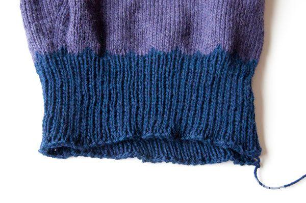 Вязаный свитер (со схемой). Knitting - sweater DIY