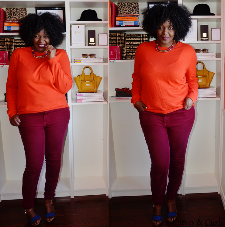 orange and burgundy outfit inspiration-30 days 30 outfit Challenge Fall Edition