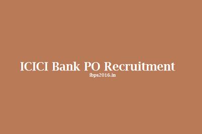 ICICI Bank PO Recruitment
