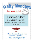 Krafty MondaysAirplanes! Posted by Franklin Public Library at 1:27 PM (airplanes)