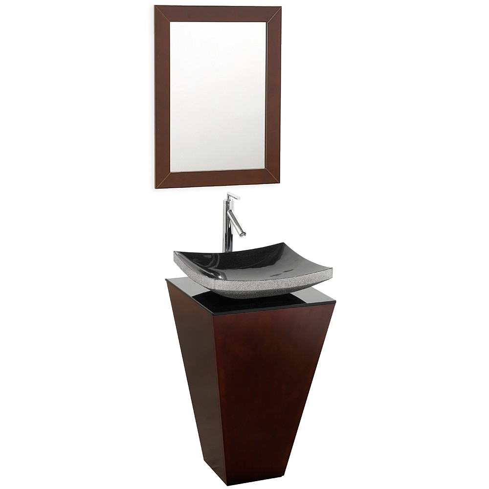 Small Vessel Sink Vanity : ... Bathroom Vanity Espresso Finish, Smoke Glass Vessel Sink, Pyra Vessel