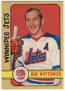 bob woytowich winnipeg jets hockey card 1972-73 o-pee-chee wha