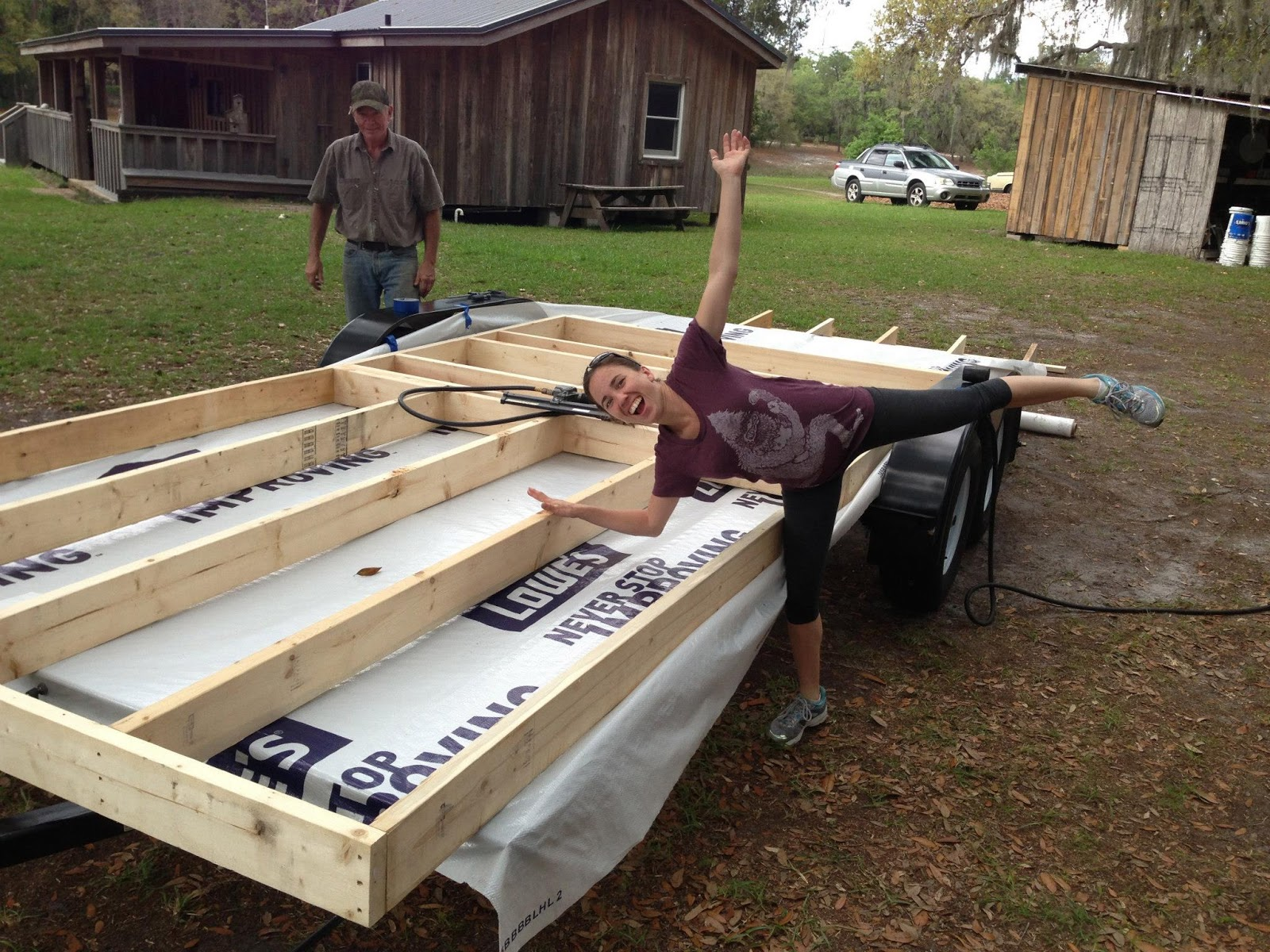 Adventures of the Wandering Turtle: Build Day 1: Frame the subfloor