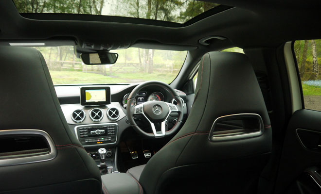Mercedes-Benz GLA-Class 200 CDI AMG Line view from the rear seats