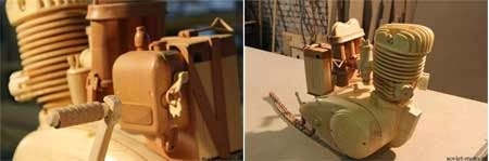 gambar motor unik buatan kayu