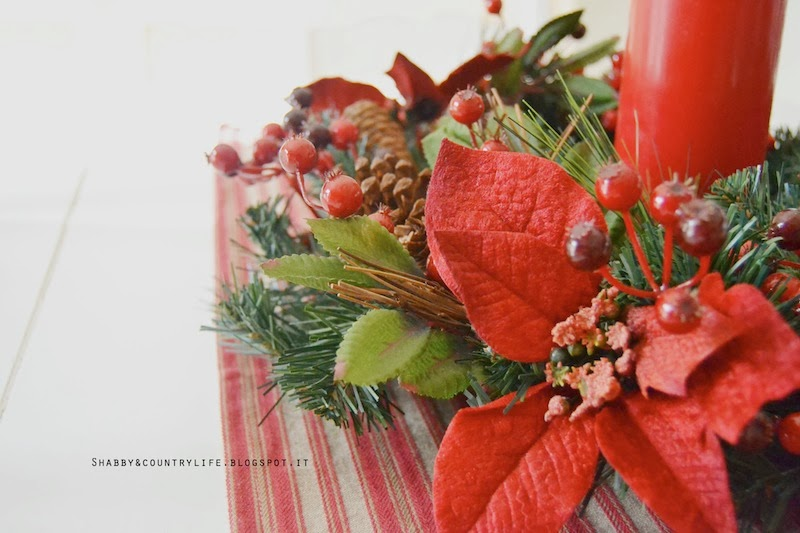 My home Christmas - Ghirlanda centrotavola-shabby&countrylife.blogspot.it