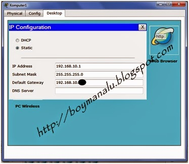 cara connect 2 pc di router menggunakan packet tracer