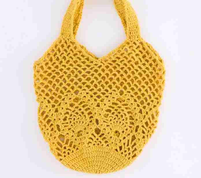 Bolso o Tula tejida a Crochet