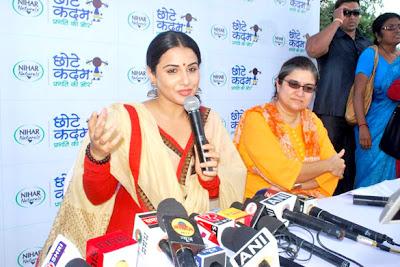 Vidya Balan at 'Chhotte Kadam Pragati Ki Aur' campaign