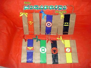 Sacolinhas Kraft Super-Heróis