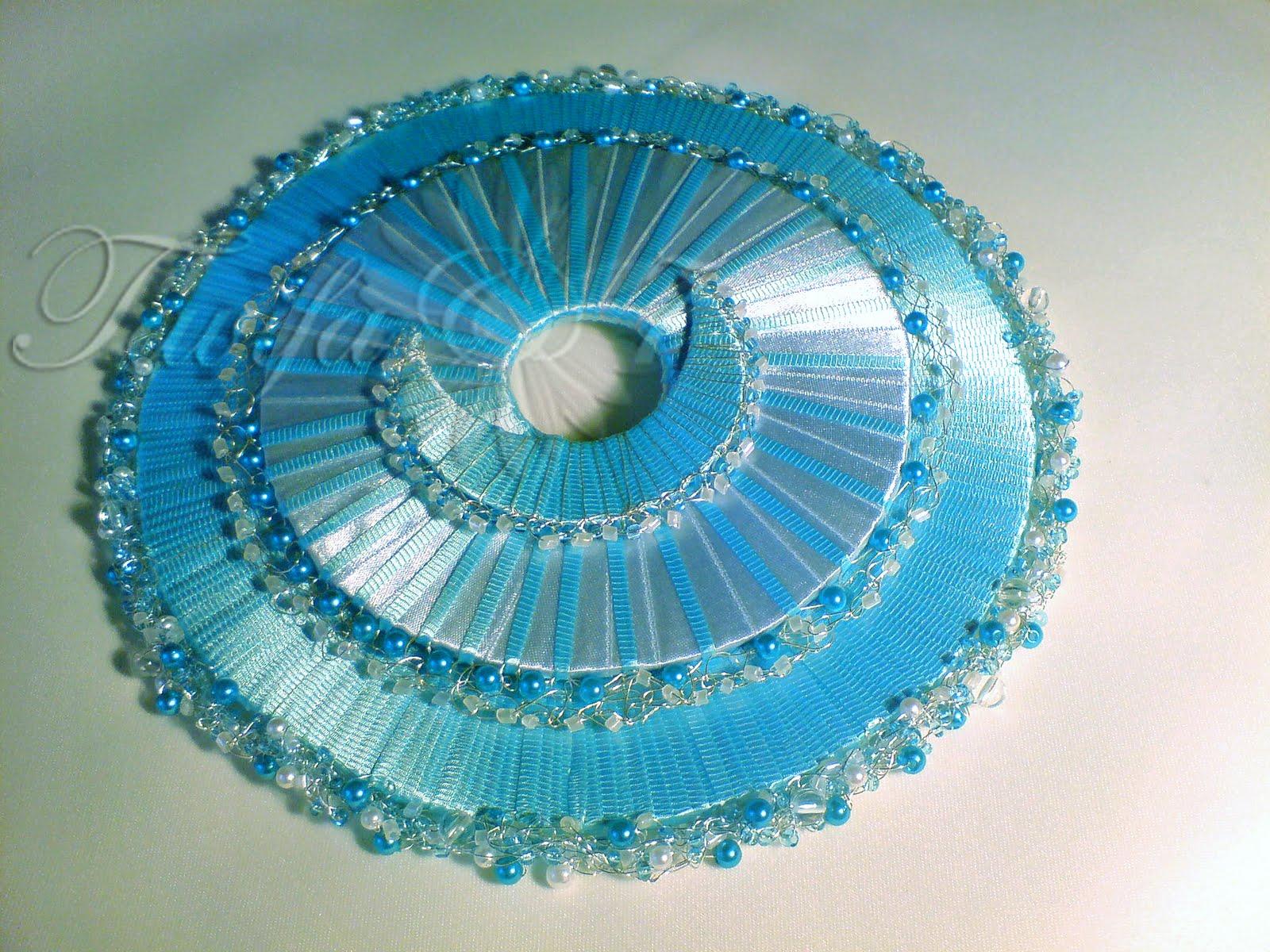 Голубой свадебный букет синий