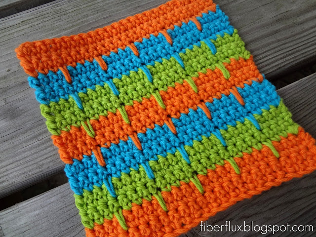 easy crochet dishcloth from my hobby is crochet