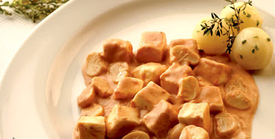 Estrogonofe de queijo light