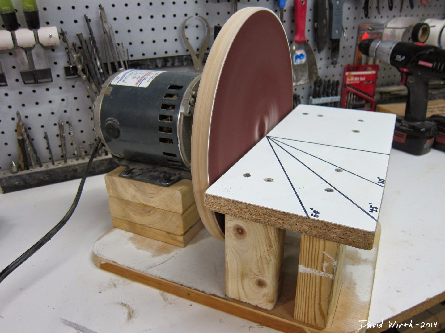 "diy 12"" disc sander, electric motor, frame"