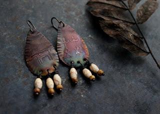 shaman and moose earrings