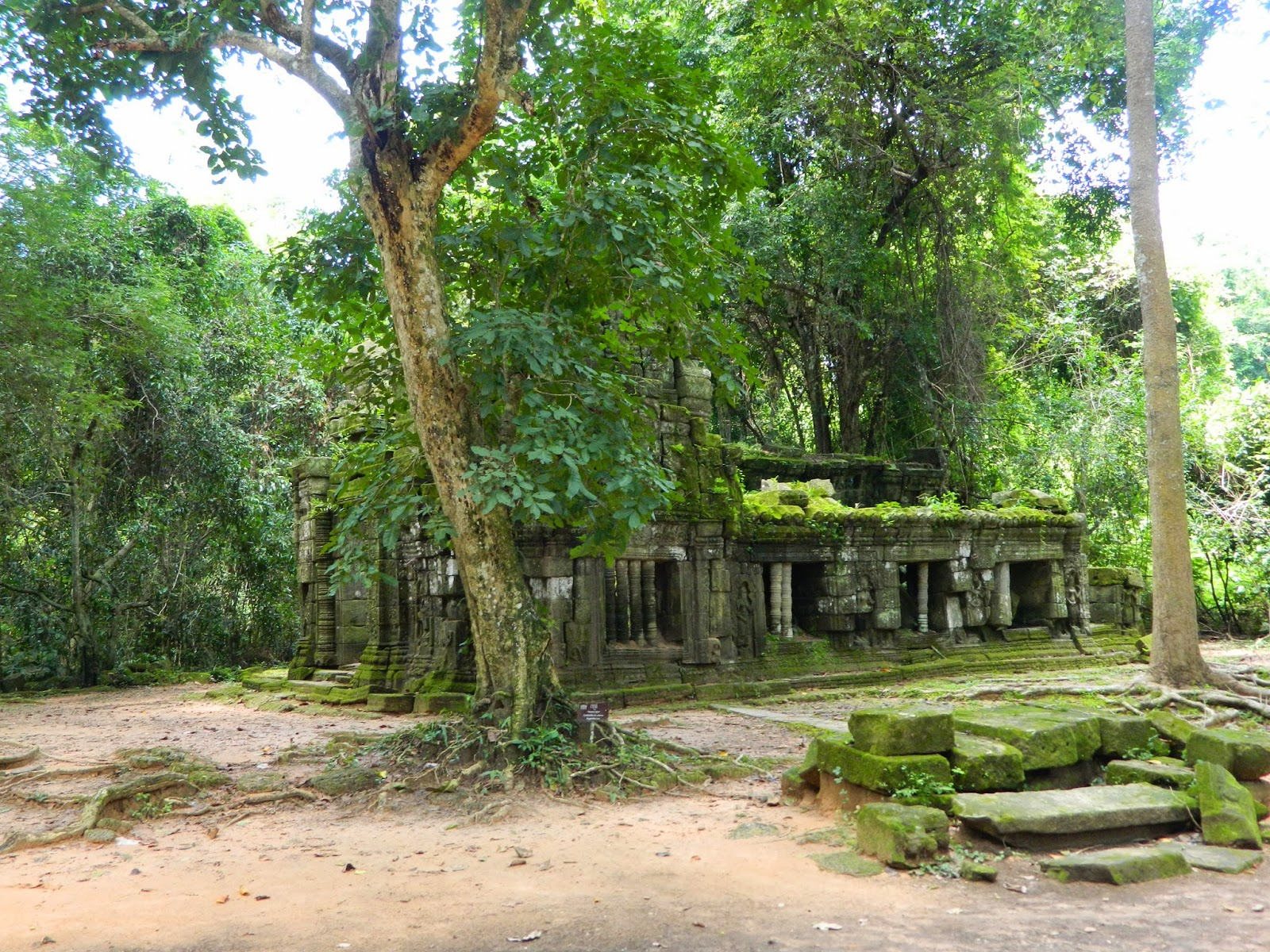 Ruins near the temple