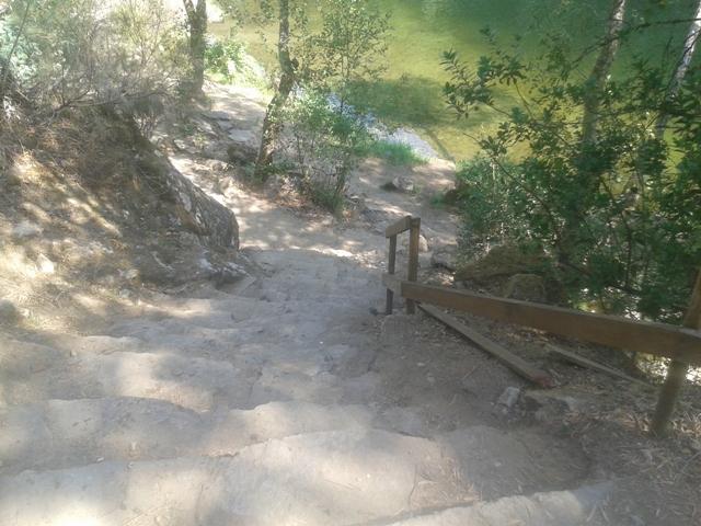 Escada rural de acesso ao areal