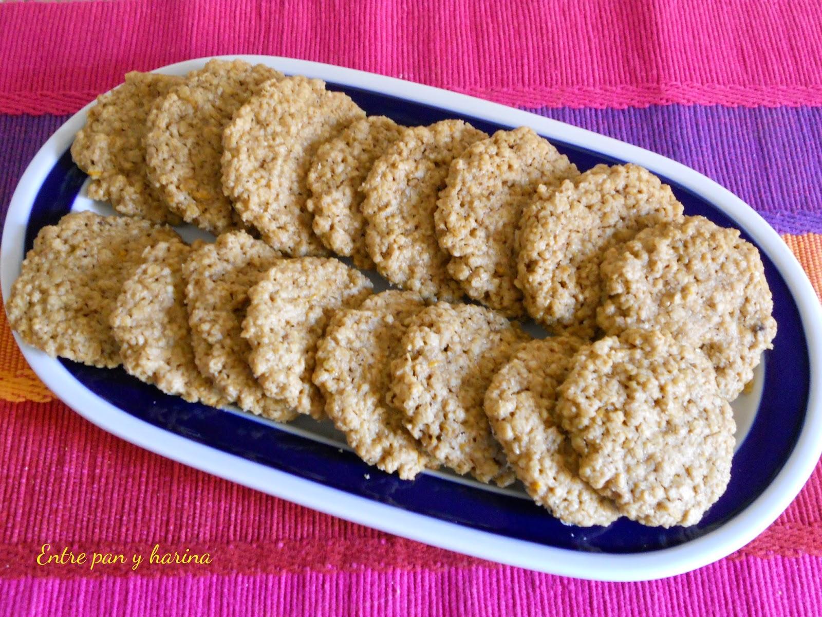 Entre pan y harina galletas de avena - Cocinar harina de avena ...