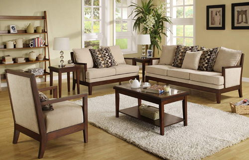 FurnitureNYC present the ideal setting for living room. Taking a cue from  retro design, the contemporary Dalton Microfiber Sofa Set - Homelegance  offers a ...