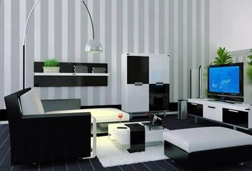 dekorasi interior ruang tamu kecil minimalis modern