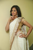 gowthami chowdary glamorous in saree-thumbnail-12