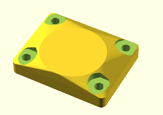 Filament Holder base plate with rounded corners