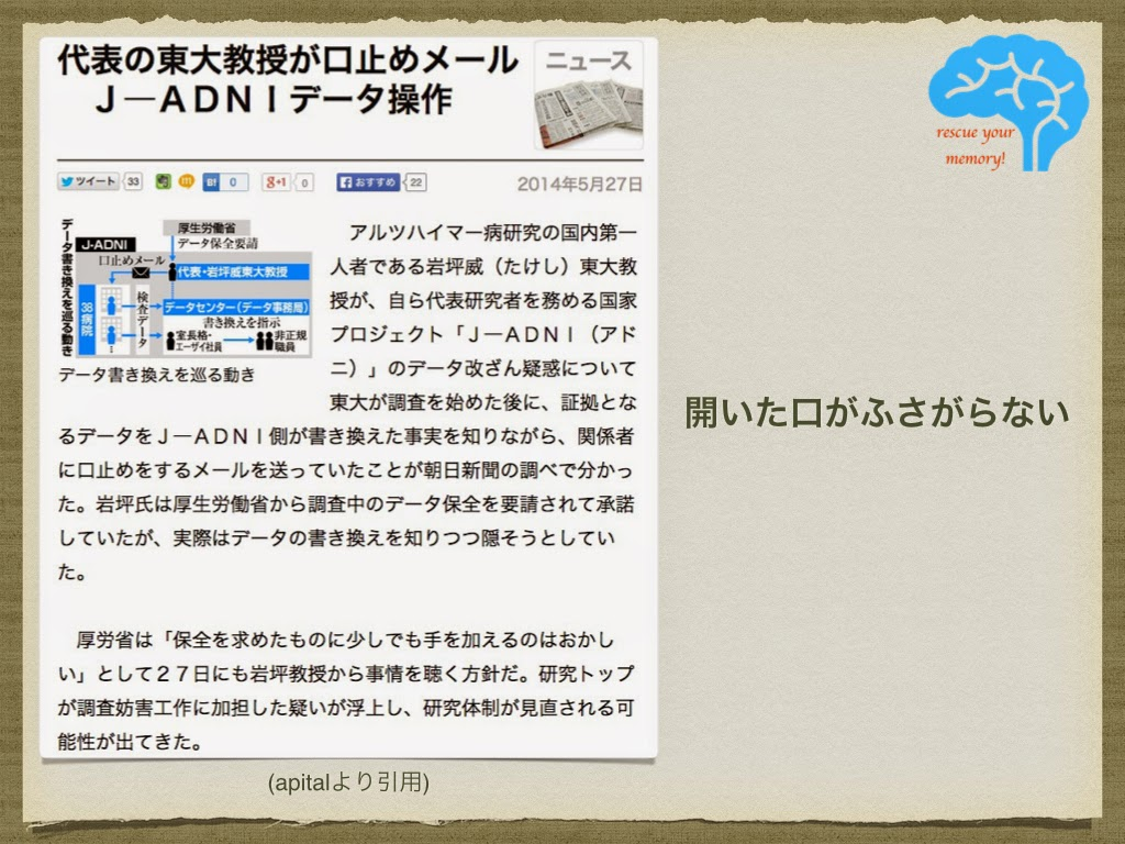 J-ADNIデータ操作疑惑
