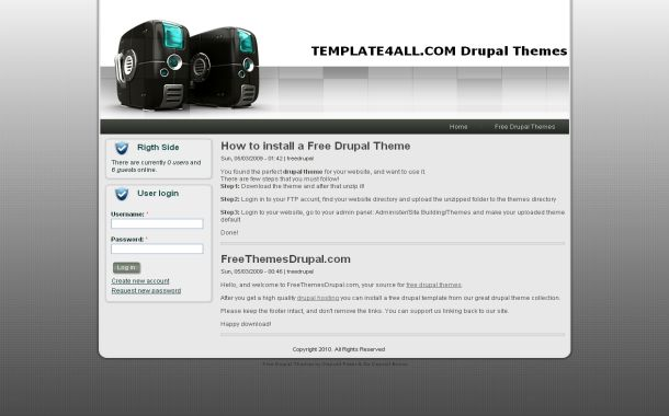 Free WebHosting Business Gray Drupal Skin Theme