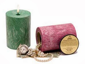Burgundy Candle Diversion Safes