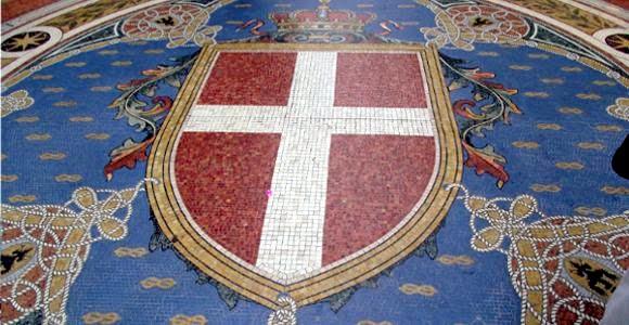 Escudo en la Galeria Vitorio Emanuel II