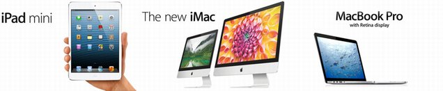 Apple MacBook Pro, MacBook Air, Mac Pro, iPad Mini 2013 Release Dates
