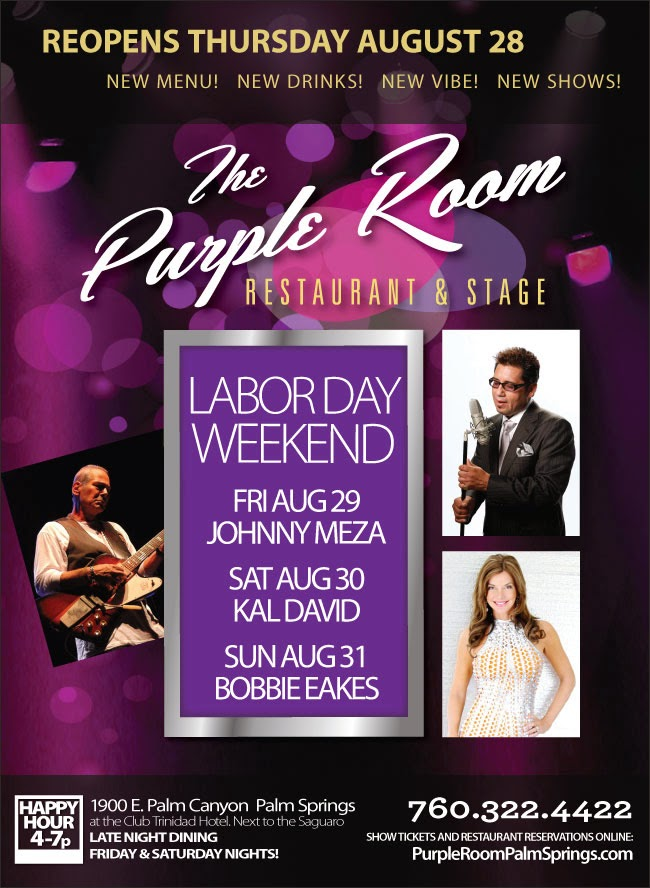 Purple Room Restaurant & Stage Will Be Reopening Labor Day Weekend, Friday August 28th
