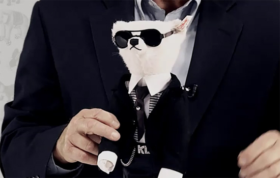 doudou, peluche, nounours, ourson Karl Lagerfeld
