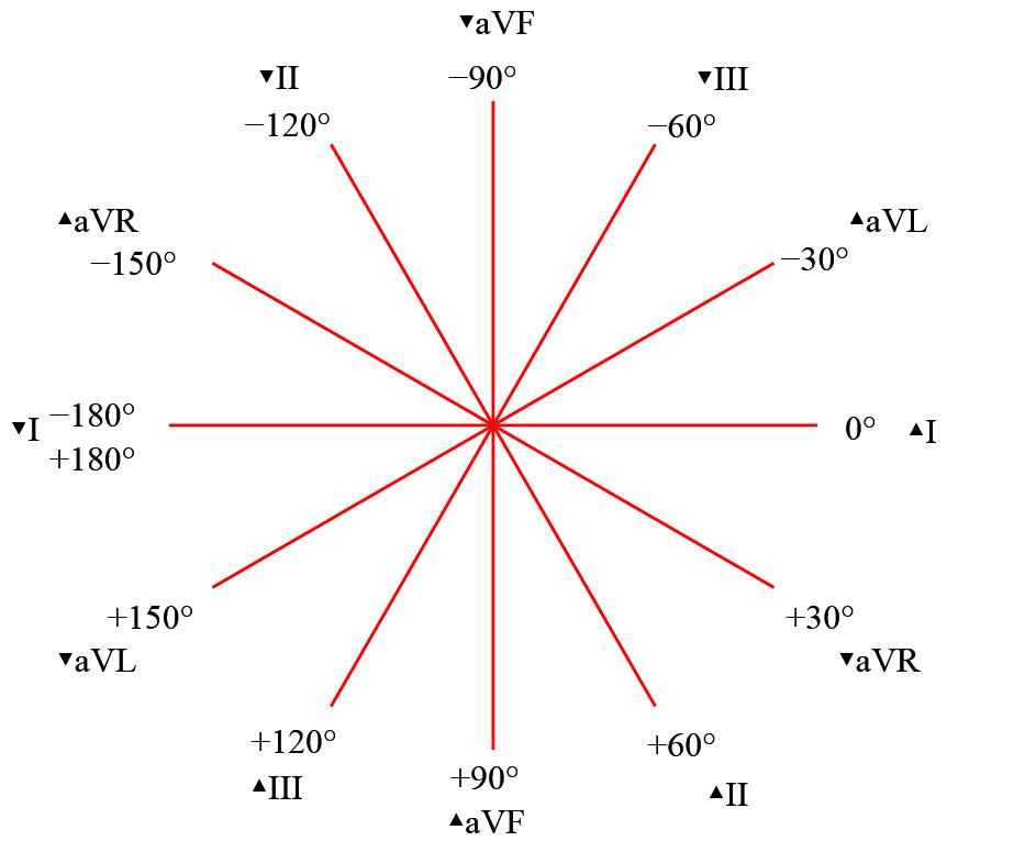electrocardiograma: sistema hexaxial