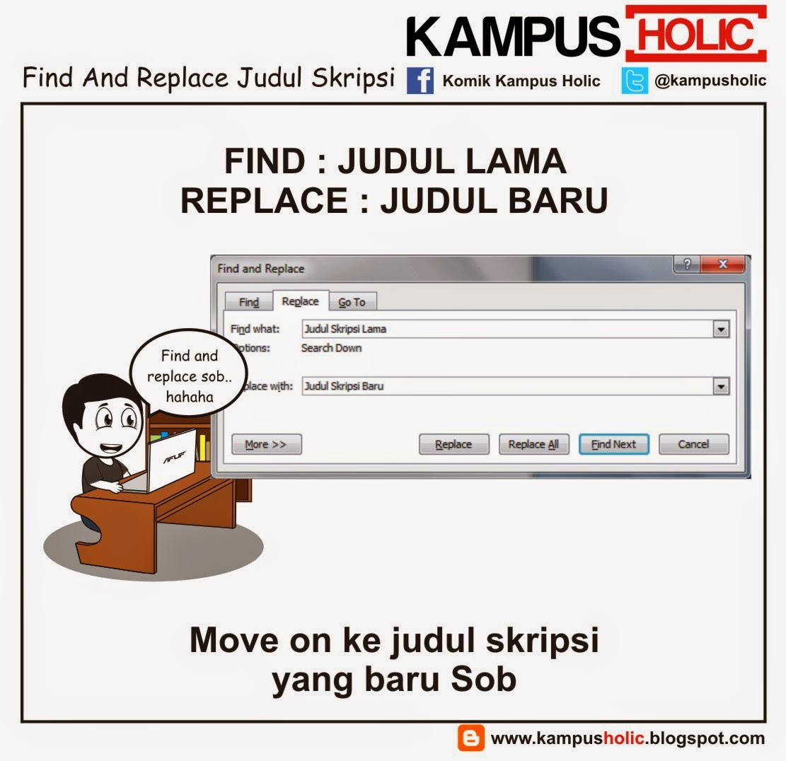 #562 Find And Replace Judul Skripsi