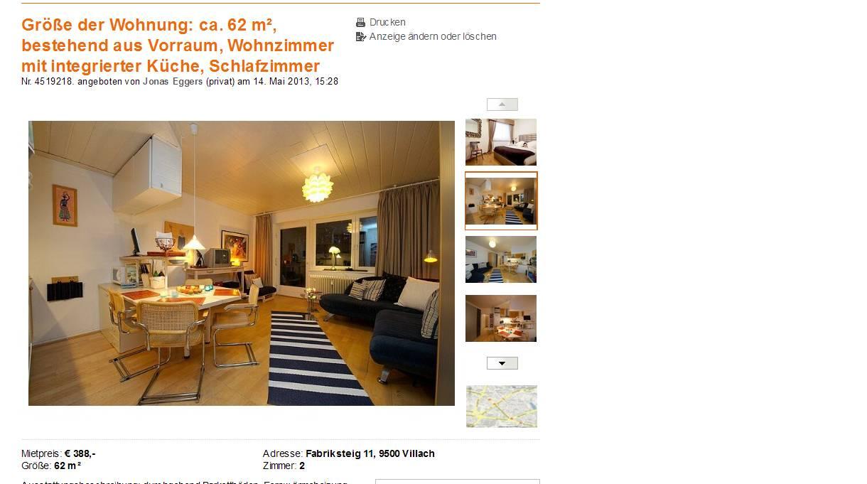gr e der wohnung ca 62 m bestehend aus vorraum wohnzimmer mit. Black Bedroom Furniture Sets. Home Design Ideas