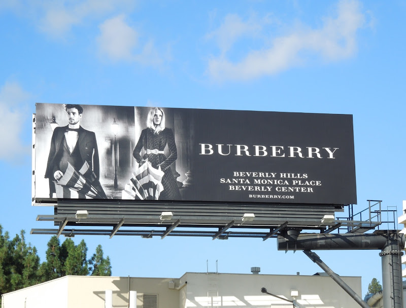 Burberry umbrellas billboard