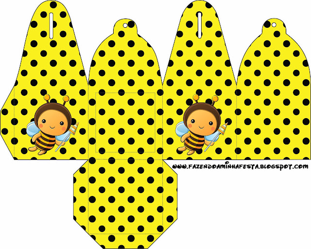 Baby Bees Free Printable Favor Boxes