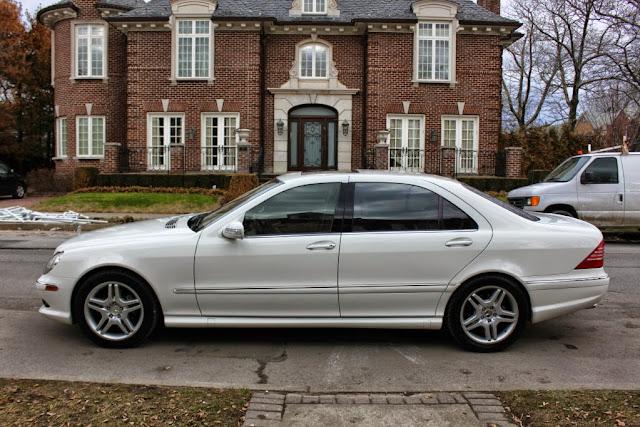 2003 mercedes w220 s500 white